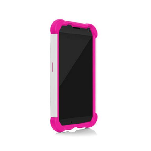 Ballistic Hot Pink/ White Shell Gel Series Back Cover Over Silicone Case for Motorola Moto X(2013 1st Gen) - SG1188-A055