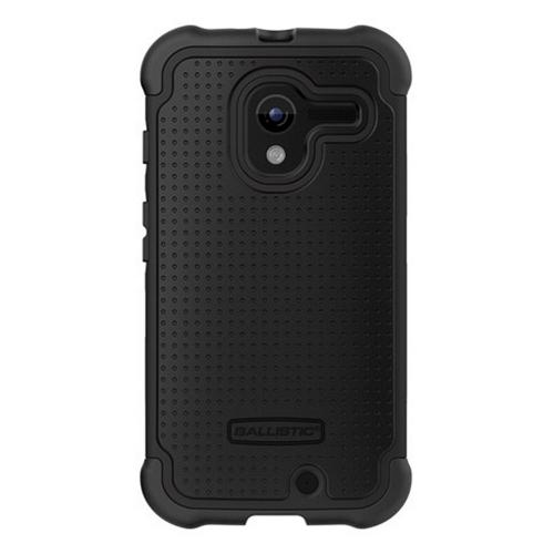Ballistic Black Shell Gel Series Back Cover Over Silicone Case for Motorola Moto X(2013 1st Gen) - SG1188-A065