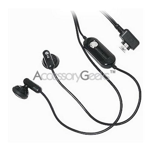 Original LG CU575 Stereo Earbud Handsfree Headset - Black