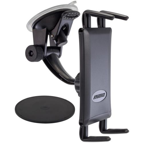 Arkon Black Samsung Galaxy S4 MEGA NOTE 3 - Deluxe Mini Windshield Suction or Adhesive Dashboard Mount