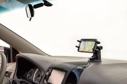 Arkon Black Samsung Galaxy S4 MEGA NOTE 3 - Robust Base Windshield Suction or Adhesive Dashboard Mount