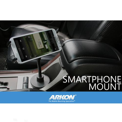 Arkon Universal Black Cup Holder Mount w/ Flexible Gooseneck Shaft [SGN223]