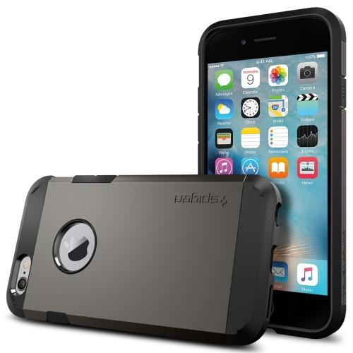[Apple iPhone 6/6S] Case, Spigen [Extreme Protection] Tough Armor Case w/ Air Cushion Technology [Gunmetal]