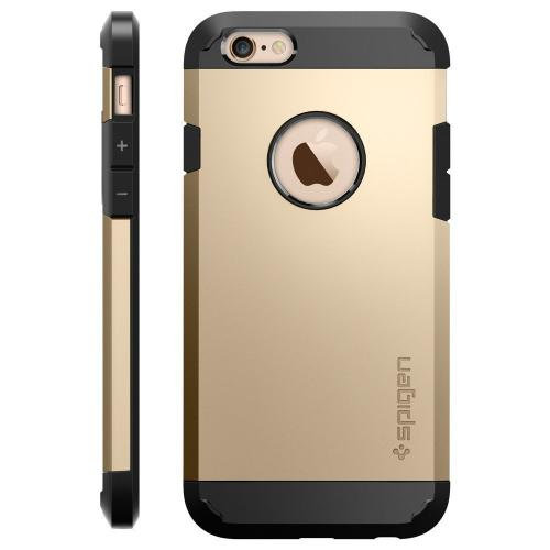 [Apple iPhone 6/6S] Case, Spigen [Extreme Protection] Tough Armor Case w/ Air Cushion Technology [Champagne Gold]