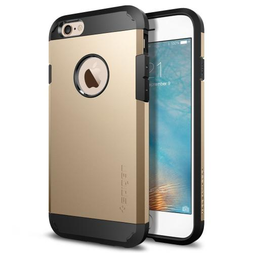 Apple iPhone 6S/6 Case, Spigen [Extreme Protection] Tough Armor Case w/ Air Cushion Technology [Champagne Gold]