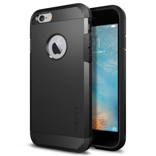 [Apple iPhone 6/6S] Case, Spigen [Extreme Protection] Tough Armor Case w/ Air Cushion Technology [Black]
