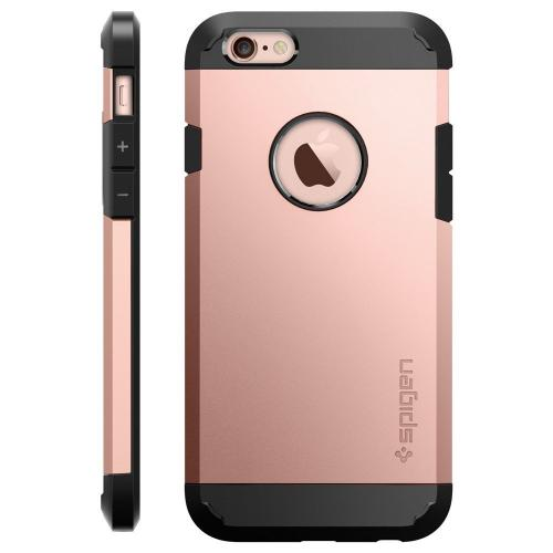 [Apple iPhone 6/6S] Case, Spigen [Extreme Protection] Tough Armor Case w/ Air Cushion Technology [Rose Gold]