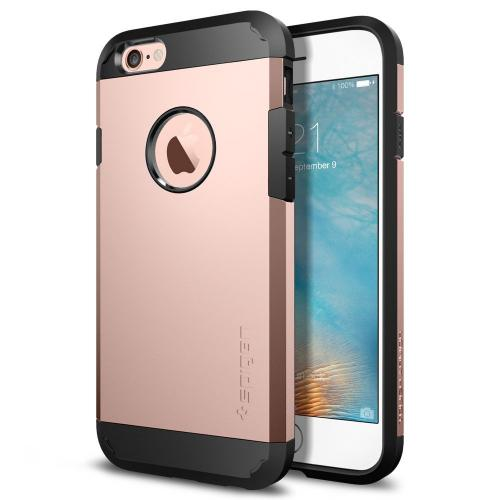 Apple iPhone 6S/6 Case, Spigen [Extreme Protection] Tough Armor Case w/ Air Cushion Technology [Rose Gold]