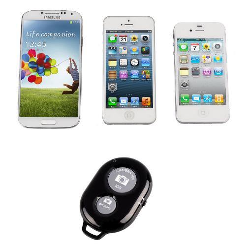 White Wireless Bluetooth Shutter Remote - Take Selfies with Android or Apple Devices!