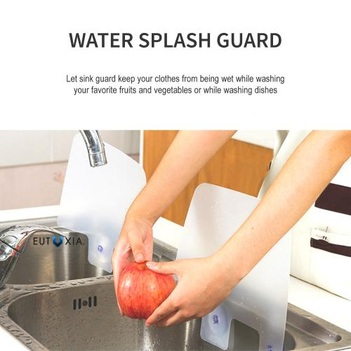 2 Pack - Silicone sink splash guard w/ suction cups