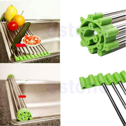 Little Folding Stainless Steel Colander Drying Tray for Fruits, Vegetables, Meat