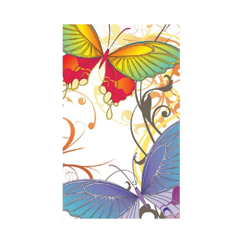Dell Venue Pro Protective Skin - Rainbow Butterflies & Swirls on White