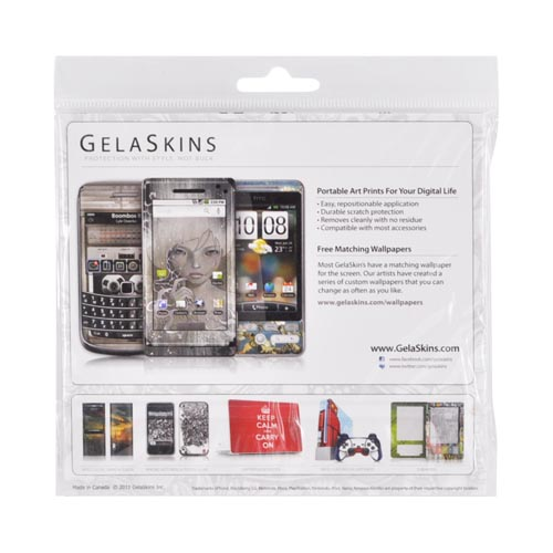 Original GelaSkins Samsung Galaxy S2 Protective Skin - The Soundtrack (To My Life) Gray w/ White Bear (INTERNATIONAL VERSION) (INTERNATIONAL VERSION)