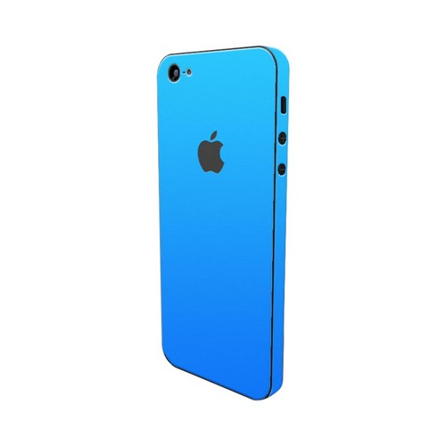 OEM SlickWraps Apple iPhone 5 Protective Skin & Screen Protector - Glow in the Dark Blue