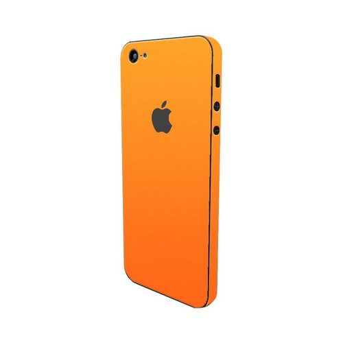 Apple iPhone SE/5/5S/5C, SlickWraps [Glow in the Dark Orange] Protective Skin & Screen Protector
