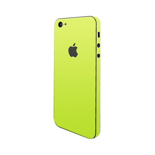 OEM SlickWraps Apple iPhone 5 Protective Skin & Screen Protector - Glow in the Dark Yellow