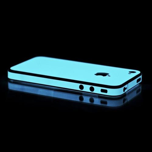 Original SlickWraps Apple AT&T/ Verizon iPhone 4, iPhone 4S Protective Skin - Glow in the Dark Blue