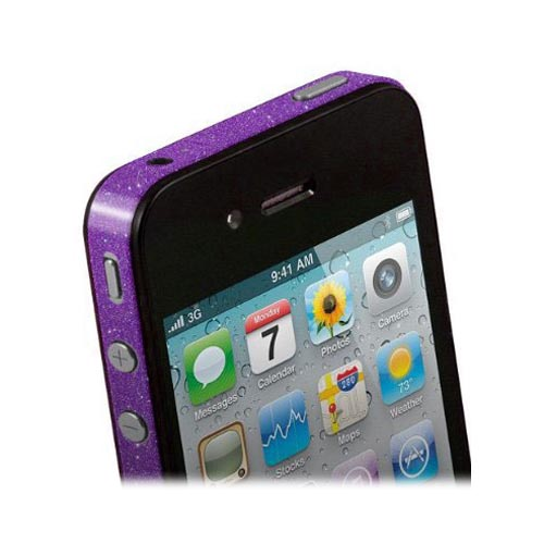 Original TruePower Apple iPhone 4 Thin Skin - Glitter Purple