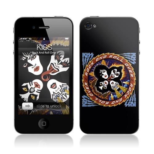 Original Music Skins Apple AT&T/ Verizon iPhone 4, iPhone 4S Protective Skin - Kiss Rock & Roll Over