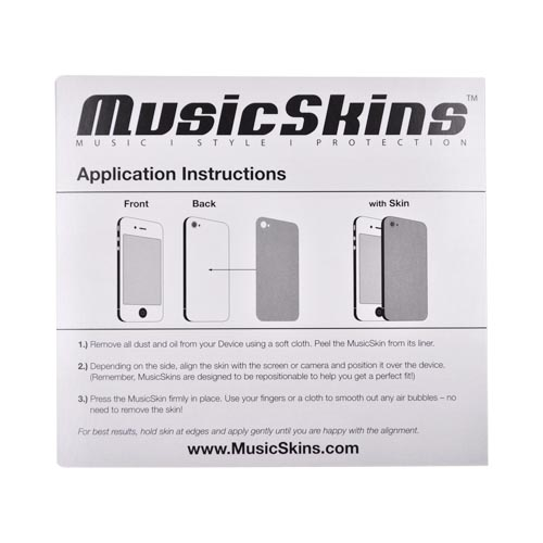 Original Music Skins Apple AT&T/ Verizon iPhone 4, iPhone 4S Protective Skin - Bob Marley One Love
