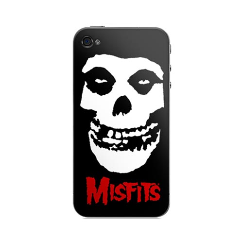 Original Music Skins Apple AT&T/ Verizon iPhone 4, iPhone 4S Protective Skin - Misfits Crimson Ghost