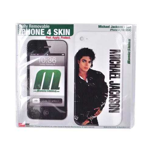 Original Music Skins Apple AT&T/ Verizon iPhone 4, iPhone 4S Protective Skin - Michael Jackson Bad