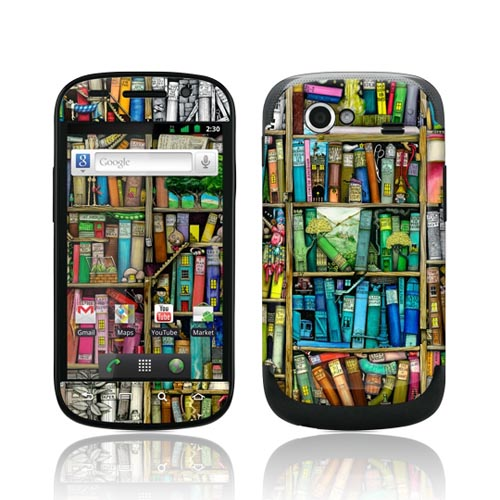 Original GelaSkins Google Nexus S Protective Skin - Colorful Bookshelf