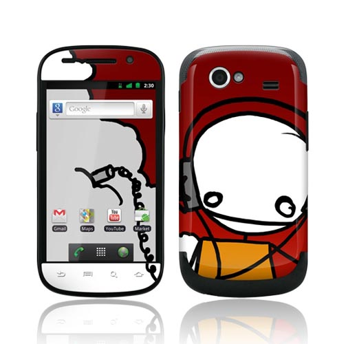 Original GelaSkins Google Nexus S Protective Skin - I Like This Music Stick Figure on Red