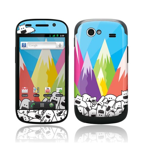 Original GelaSkins Google Nexus S Protective Skin - Monsters w/ Colorful Mountain View