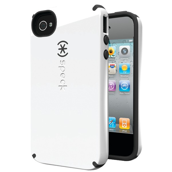 SPECK SPK-A0774 IPHONE(R) 4S CANDYSHELL CASE (WHITE/CHARCOAL)