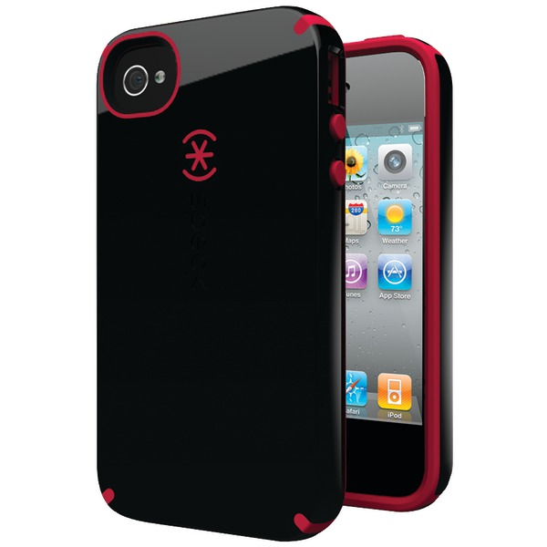 SPECK SPK-A0778 IPHONE(R) 4S CANDYSHELL CASE (BLACK/POMODORO)