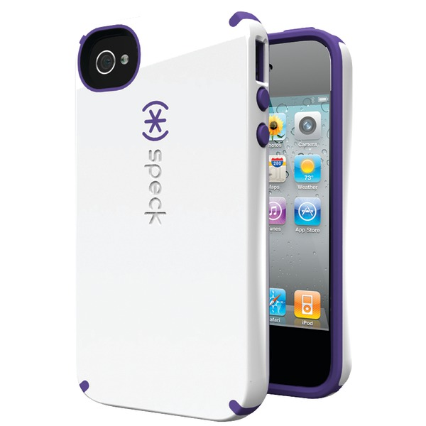 SPECK SPK-A0780 IPHONE(R) 4S CANDYSHELL CASE (WHITE/AUBERGINE)