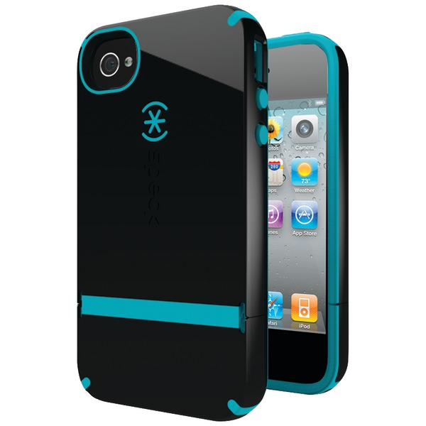 SPECK SPK-A0796 IPHONE(R) 4S CANDYSHELL FLIP CASE (BLACK/PEACOCK)