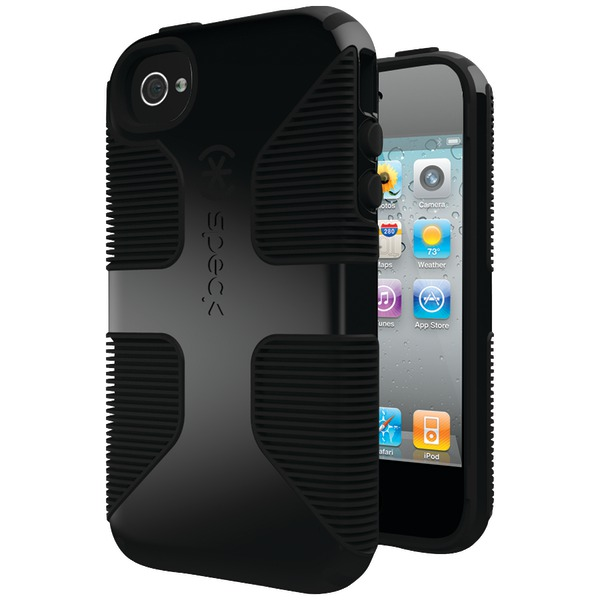 SPECK SPK-A0797 IPHONE(R) 4S CANDYSHELL GRIP CASE (BLACK/BLACK)
