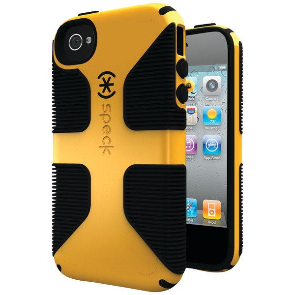SPECK SPK-A0798 IPHONE(R) 4S CANDYSHELL GRIP CASE (BUTTERNUT SQUASH/BLACK)