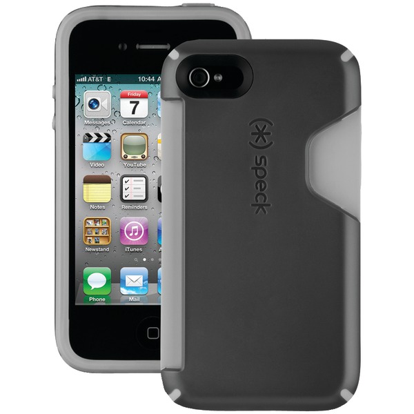 SPECK SPK-A0804 IPHONE(R) 4S CANDYSHELL CARD CASE (BLACK/DARK GRAY)