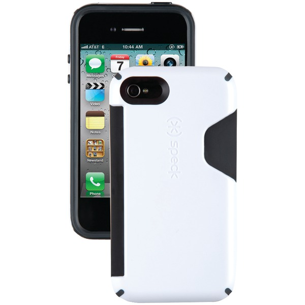SPECK SPK-A0805 IPHONE(R) 4S CANDYSHELL CARD CASE (WHITE/CHARCOAL)