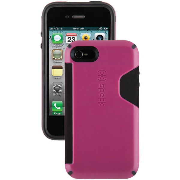SPECK SPK-A0807 IPHONE(R) 4S CANDYSHELL CARD CASE (DEEP MAGENTA/BLACK)