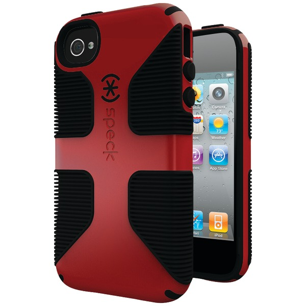 SPECK SPK-A0819 IPHONE(R) 4S CANDYSHELL GRIP CASE (POMODORO/BLACK)