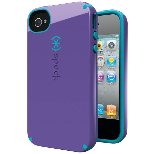 SPECK SPK-A0821 IPHONE(R) 4S CANDYSHELL CASE (AUBERGINE/PEACOCK)