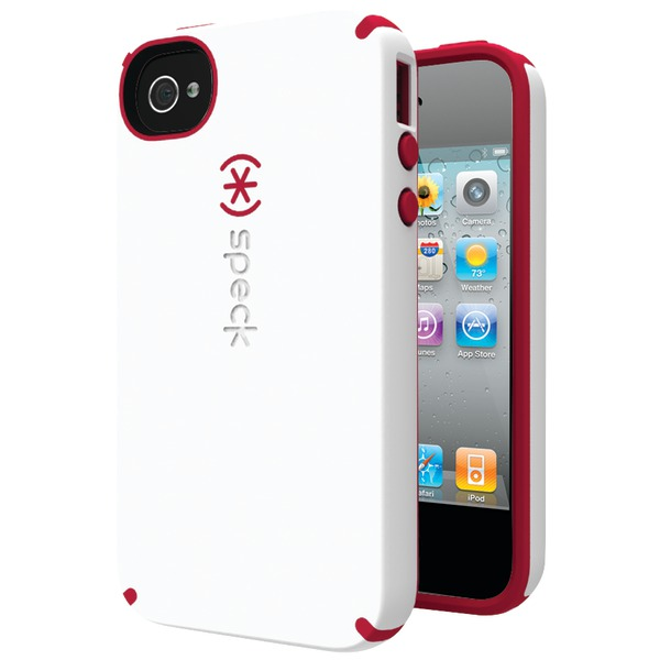 SPECK SPK-A0824 IPHONE(R) 4S CANDYSHELL SATIN CASE (WHITE/POMODORO)
