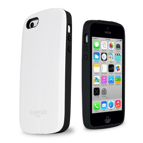 SLIMPACK® Premium Plus™ iPhone 5C Case w/ Hidden Card Slot [White]