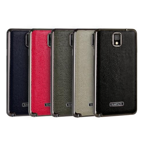 Slimpack Black Samsung Galaxy Note 3 leather textured battery door case