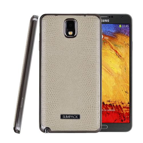 Slimpack Cream White [IVORY] Samsung Galaxy Note 3 leather textured battery door case