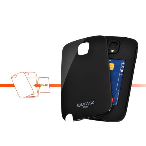 Black AccessoryGeeks SlimTough Dual Layer Hard Cover on Silicone Shell w/ Hidden Card Slot for Samsung Galaxy Note 3