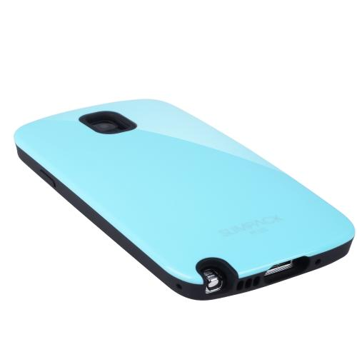 Mint AccessoryGeeks SlimTough Dual Layer Hard Cover on Silicone Shell w/ Hidden Card Slot for Samsung Galaxy Note 3