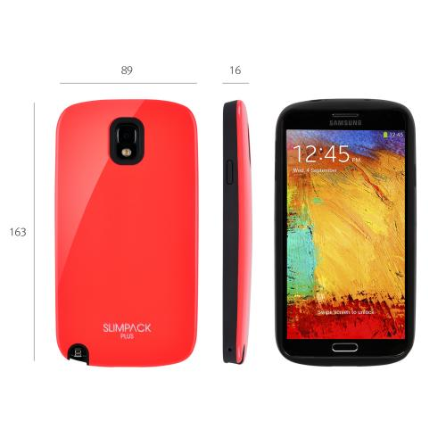 Hot Melon AccessoryGeeks SlimTough Dual Layer Hard Cover on Silicone Shell w/ Hidden Card Slot for Samsung Galaxy Note 3