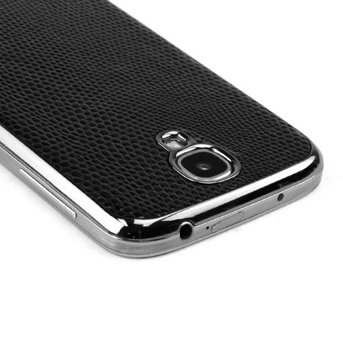 Slimpack Black Samsung Galaxy S4 leather textured battery door case