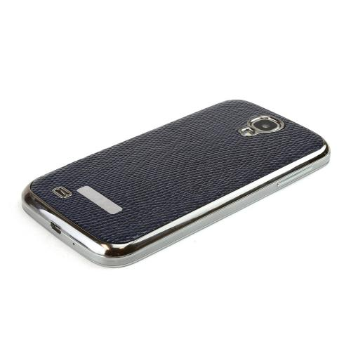 Slimpack Navy Samsung Galaxy S4 leather textured battery door case