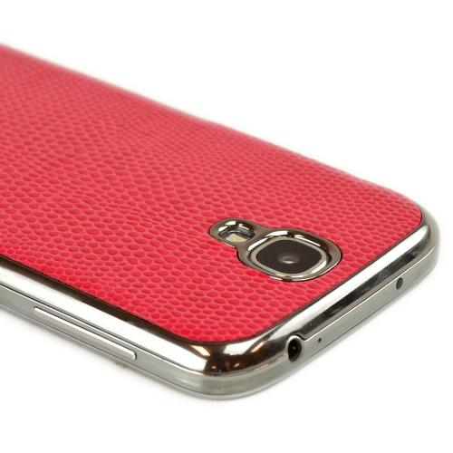 Slimpack Red Samsung Galaxy S4 leather textured battery door case